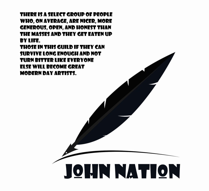 John Nation White Logo Artists Meme